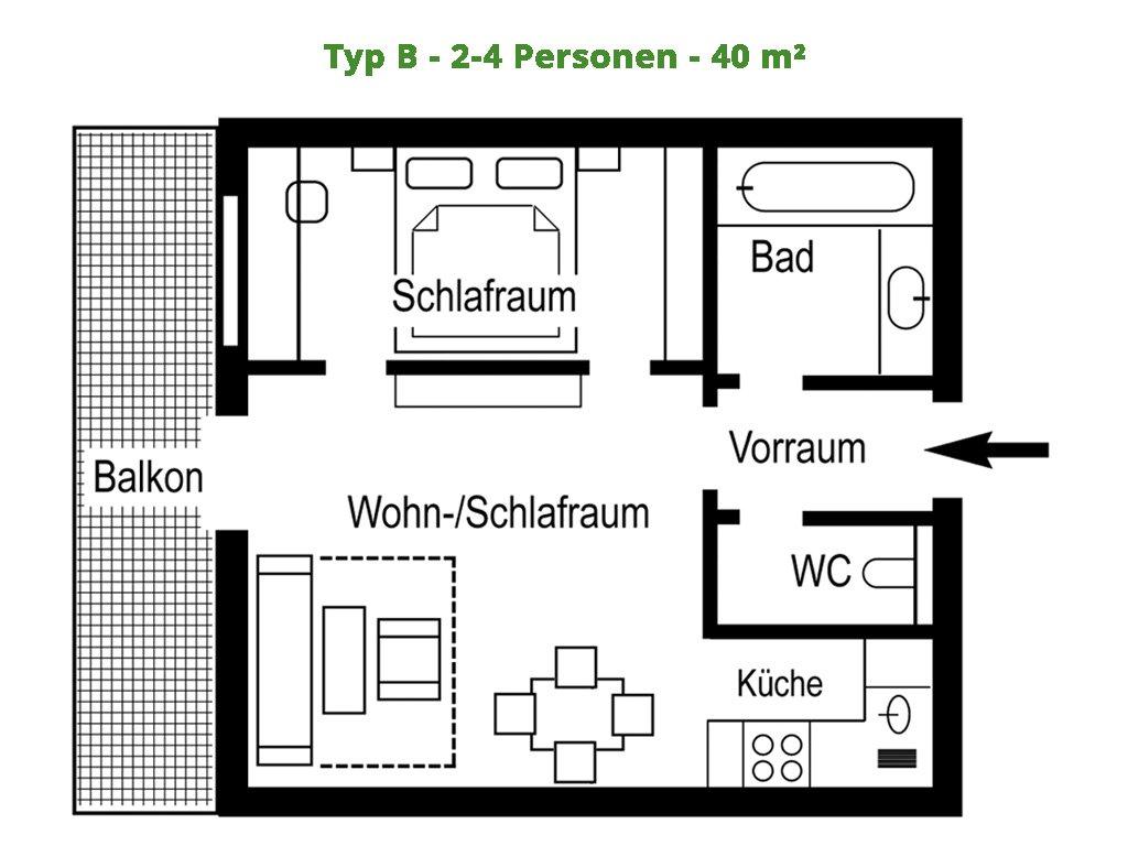 Appartement – B – 40 m²