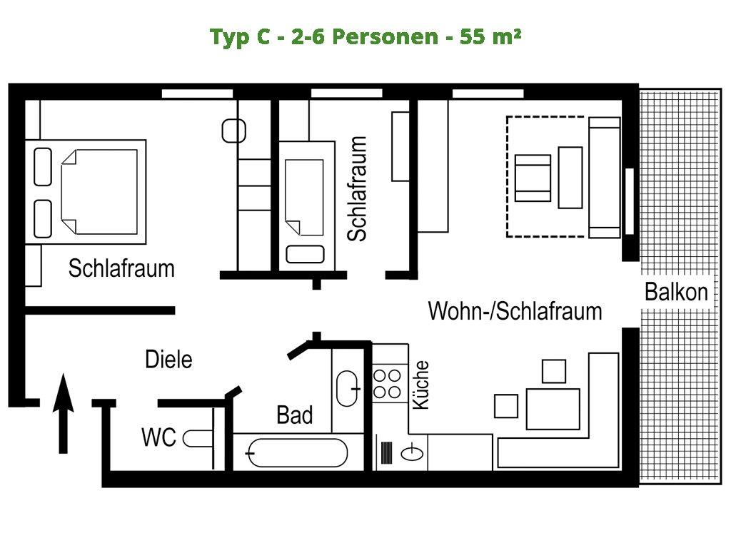 Apartment – C – 55 m²